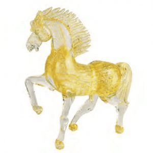 Elegant Horse All Gold With Bubbles 5488