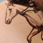 Pyrographed Horses on Wooden Bracelets