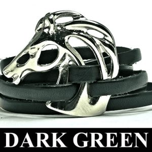 Head Horse 328 Bracelet Dark Green