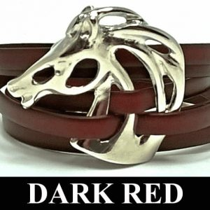 Head Horse 328 Bracelet Dark Red