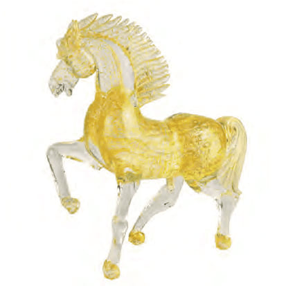 Murano Horse All Gold with Bubbles 5488