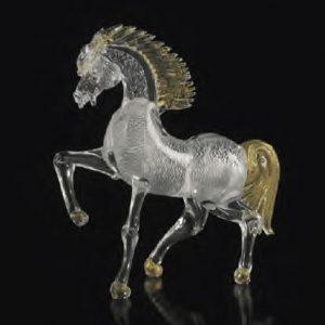 Murano Horse Silver Gold 5521