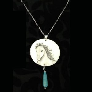 White Horse Necklace