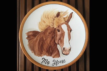Your Horse Painted on a Plate