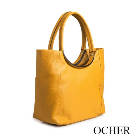Dressage Round Handle Bag Ocher