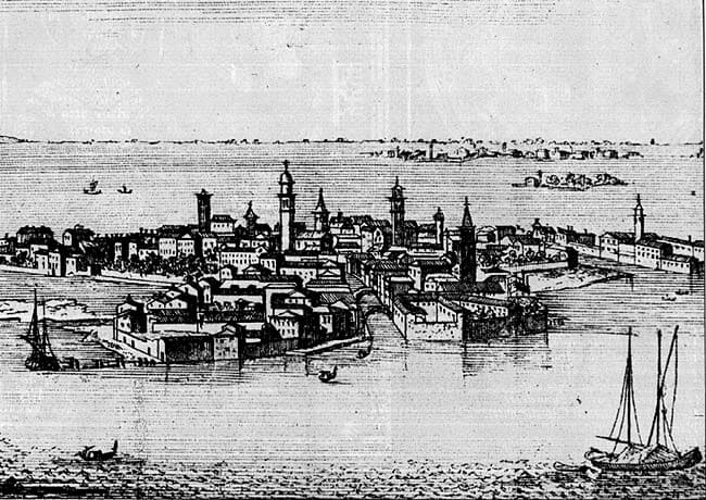 An old image of Murano island
