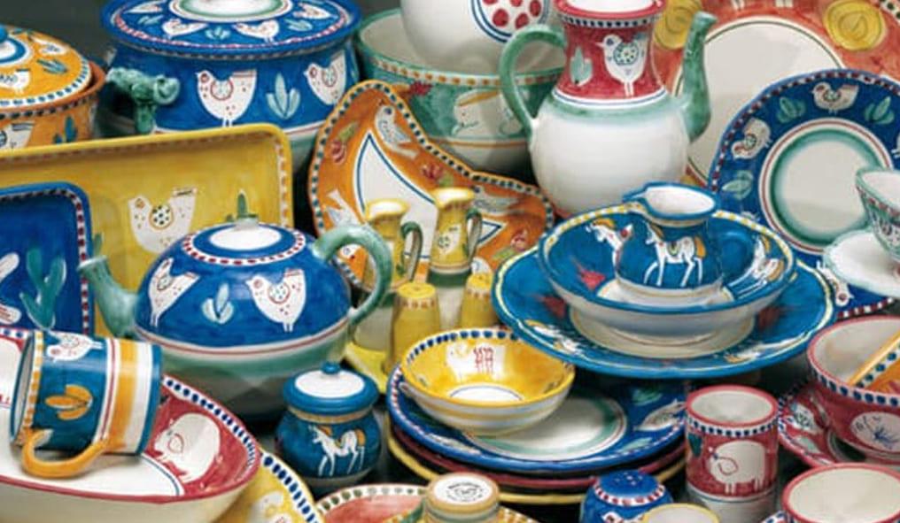 Horses in ceramic jewerly Vasi
