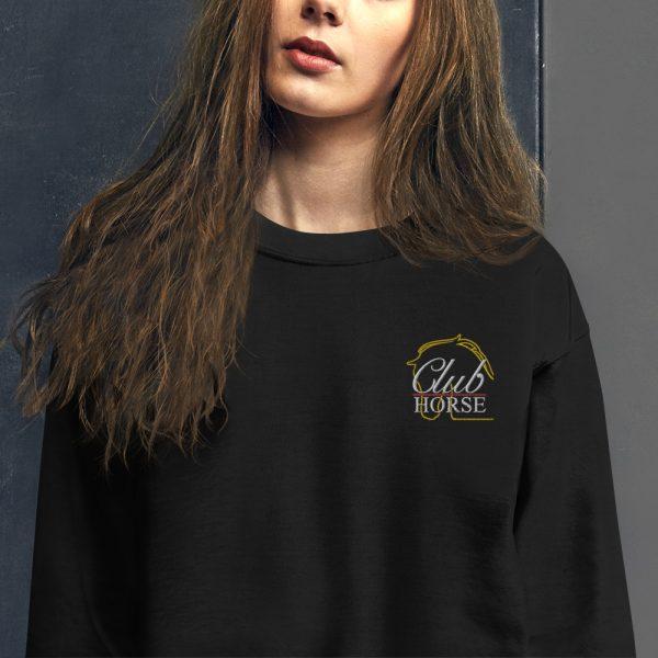 Unisex Sweatshirt Embroidered Club Horse