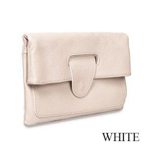 Riding Hand Bag White