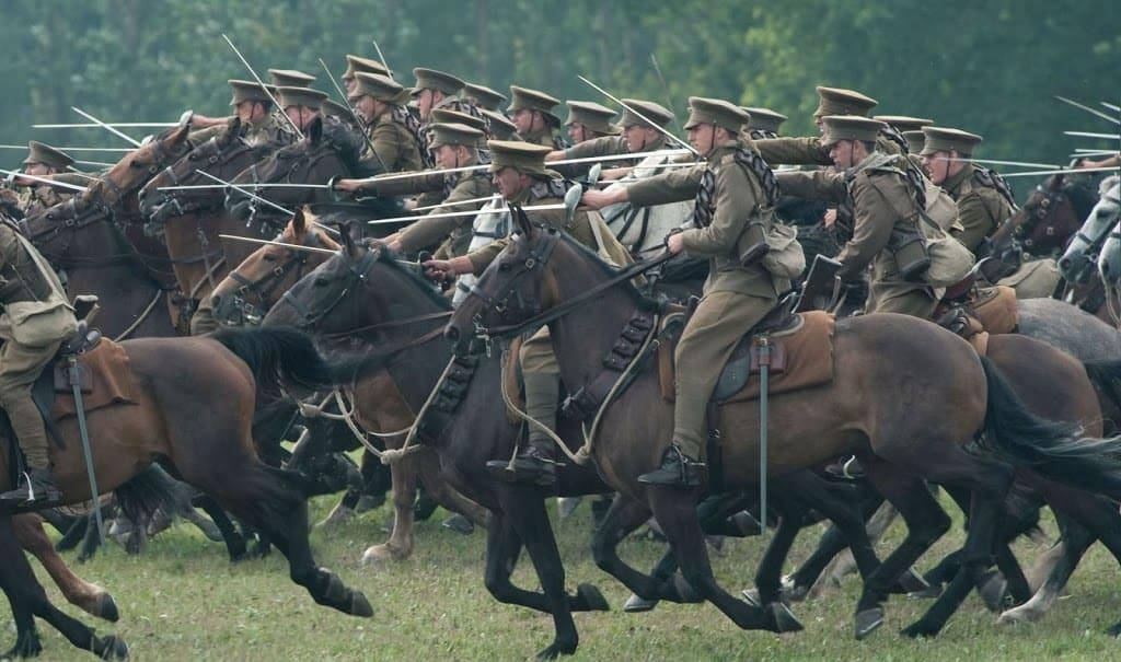 horse riding in war