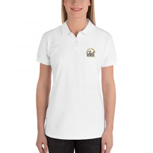 Embroidered Women's Polo Shirt Club Horse
