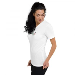 Short Sleeve V-Neck T-Shirt Club Cavallo Italia