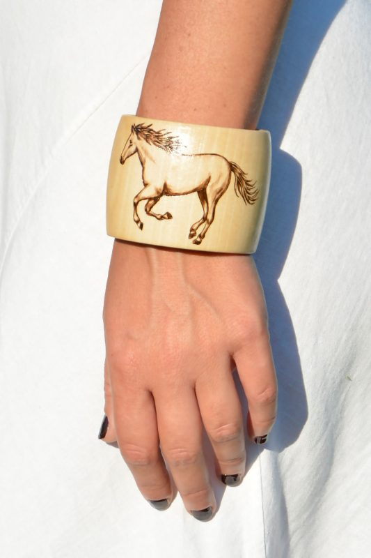 Two Galloping Horses Bracelet