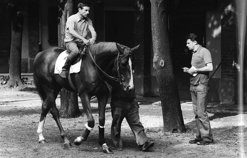 Sirlad and Gaetano Benetti, his coach