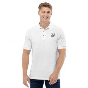 Embroidered Men's Polo Shirt Club Cavallo Italia