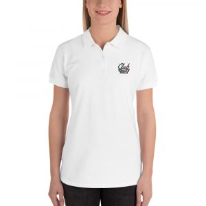 Embroidered Women's Polo Shirt Club Cavallo Italia
