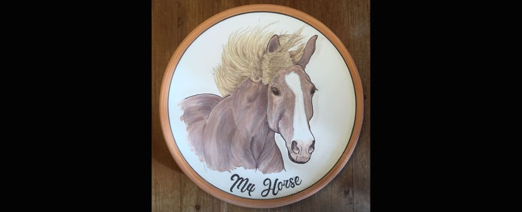 Your horse pained on a plate Disegno Terminato