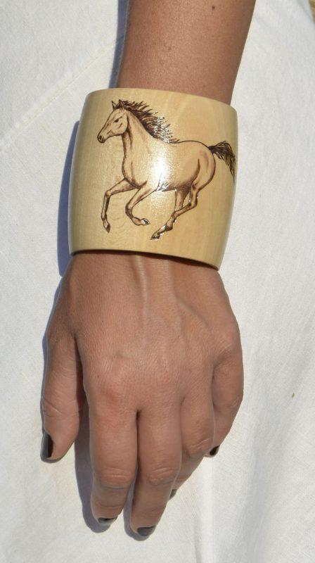 Gallop Horse Bracelet 8 worn