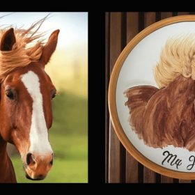 How your horse painted on a plate is born