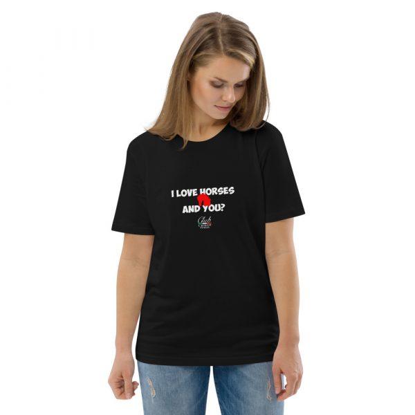 Organic Cotton T-shirt I Love Horses
