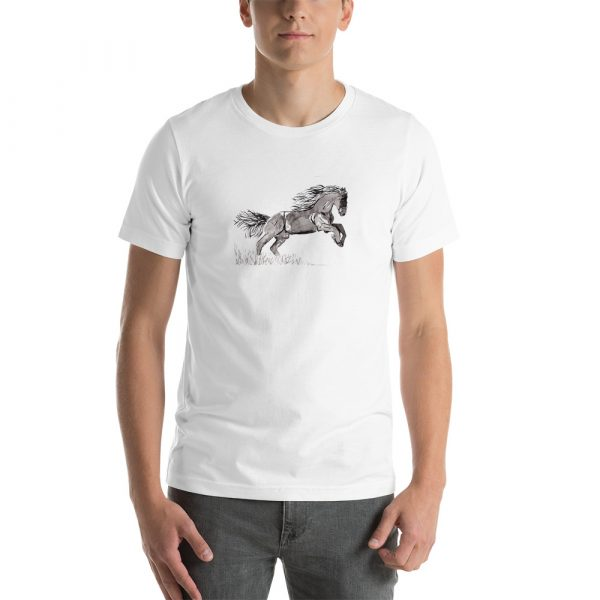 Men's T-Shirt with painted horse