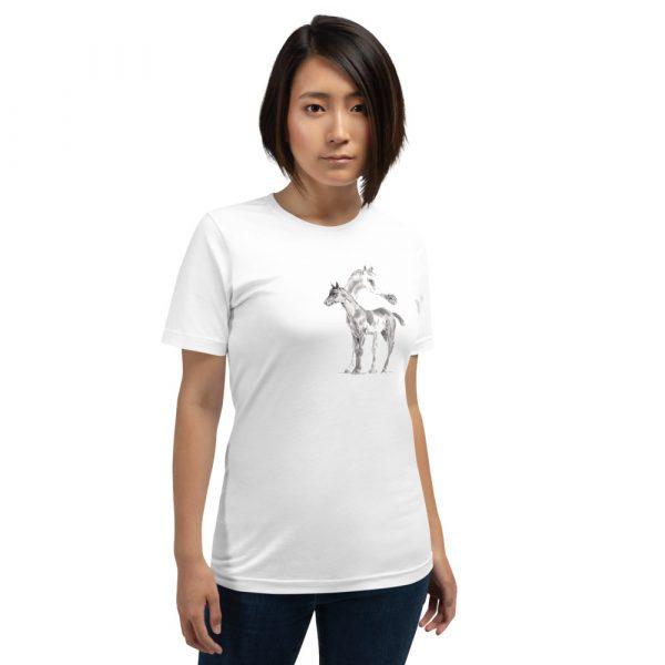 Unisex T-Shirt with Arabian Horses