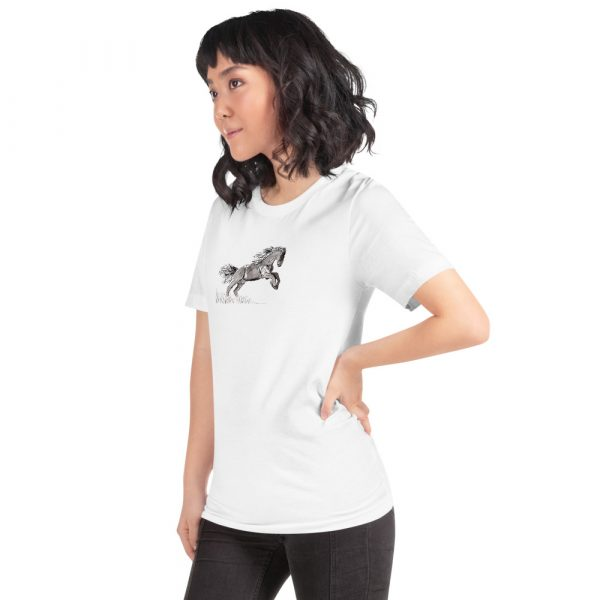 Women's T-Shirt With Painted Horse
