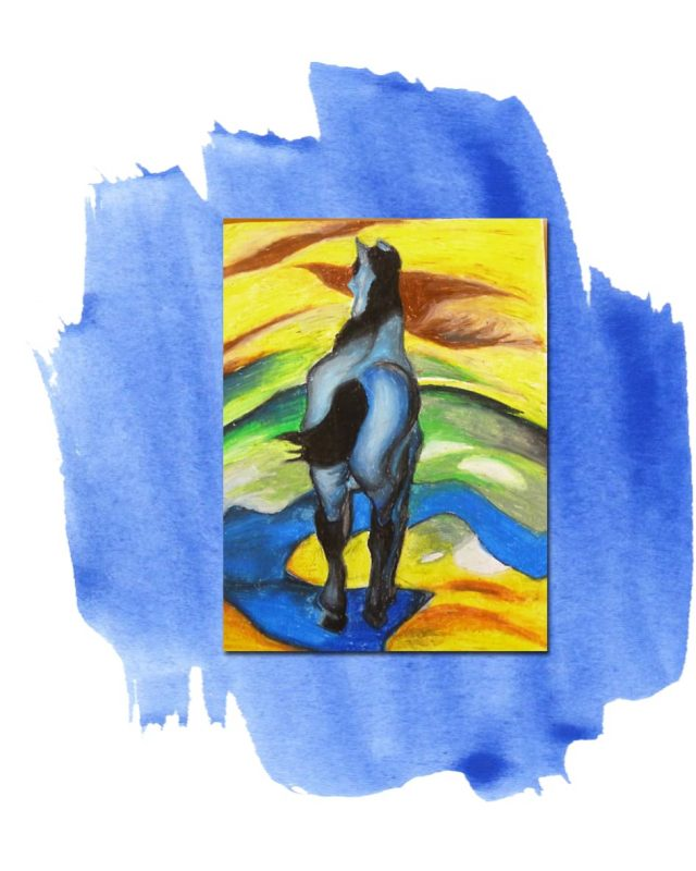 Unisex T-Shirt With Colorful Horse