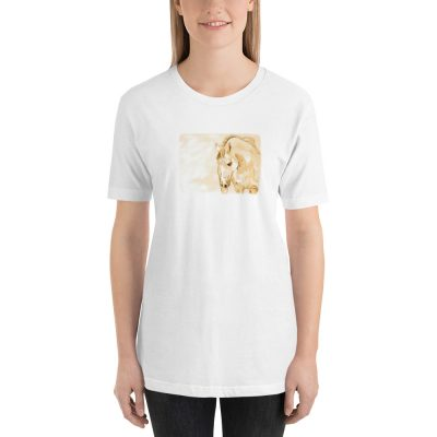 Short-Sleeve Unisex T-Shirt With Horse