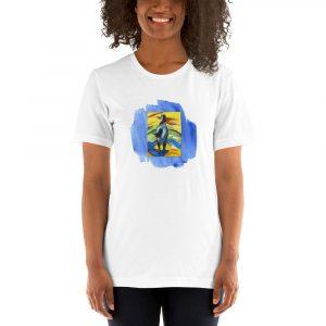 Short-Sleeve Unisex T-Shirt With Colorful Horse
