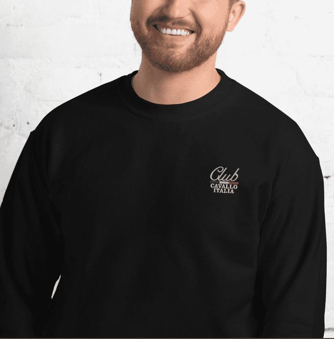 Unisex Sweatshirt Club cavallo Italia detail