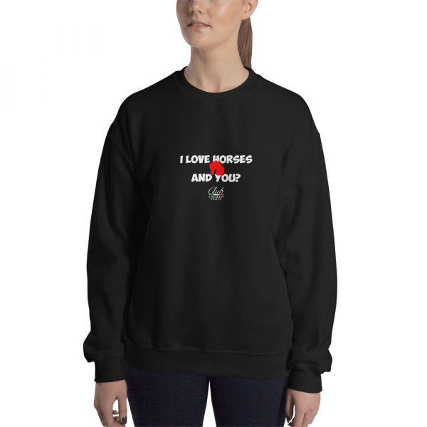 Unisex Sweatshirt I Love Horses