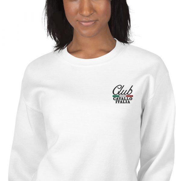 Unisex Sweatshirt Club Cavallo Italia White