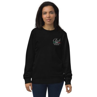 Unisex organic sweatshirt Club Cavallo Italia